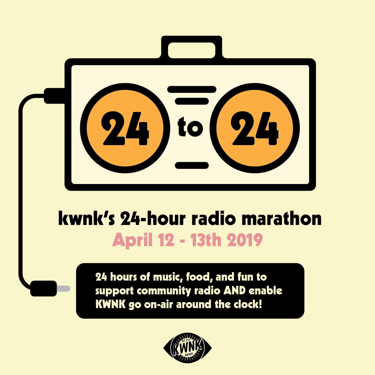 24 to 24 ~ KWNK's 24 Hour Member Marathon