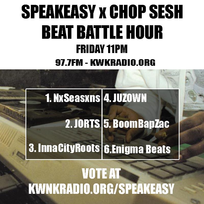 KWNK x Speakeasy NV – Beat Battle Hour